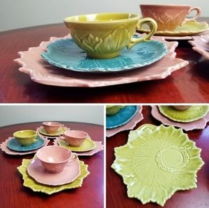 *12 pieces!* VINTAGE 1940's Steubenville tea set